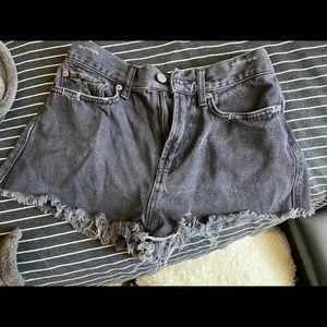 BDG UO High-Waisted Black Denim Shorts